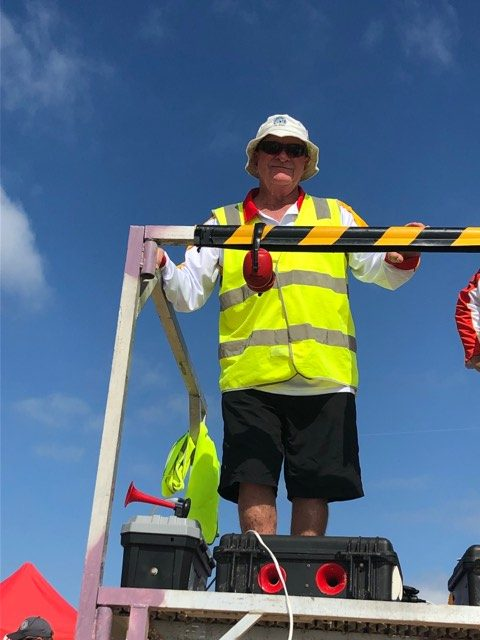 Mick Brannock Officiating the Boats at the 2019 NSW Championships