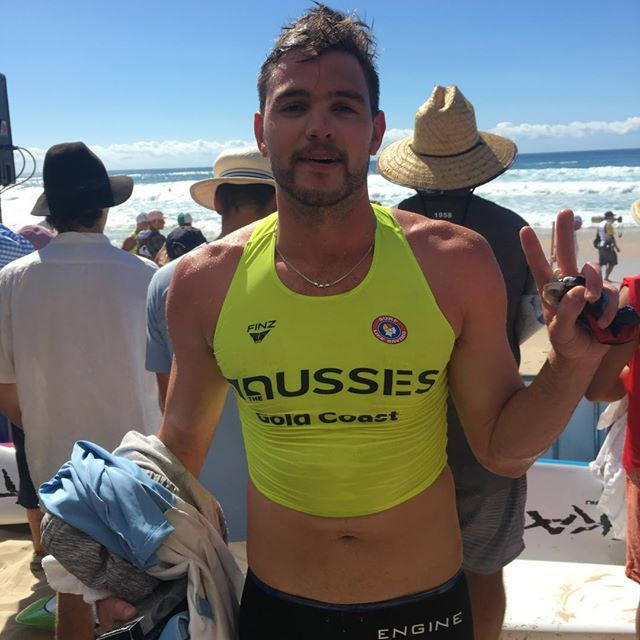 Johnny Woods 6th in the Open men's surf race